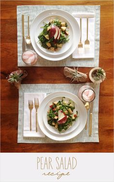 Pear + blue cheese salad from @wedding chicks