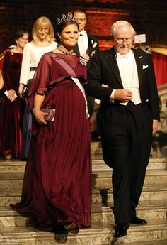 Swedish royals dust off jewels for Nobel Prize banquet at Stockholm's City Hall | Daily Mail Online