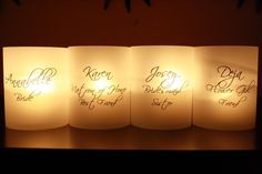 Place Cards  Lighting  Candle Covers  Bridal by thepaperynook, $1.75