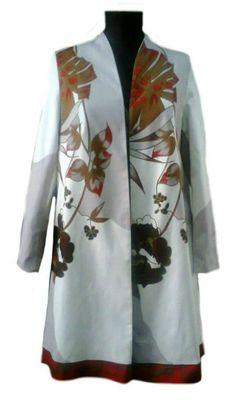 trenci flori Kimono Top, Coral, Fashion, Dress, Atelier, Moda, Fashion Styles, Fashion Illustrations