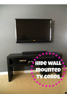 How to hide wires for wall mounted tv how to hide wires behind stand decorating cents Corner Tv, Big Screen Tv, Flat Screen, Tv Escondida, Tv Wand, Hide Wires, Hiding Cords, Hide Cables, Hide Tv Cords