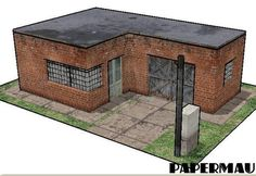 Some New Architectural Paper Models For Dioramas, RPG And Wargames - by Papermau