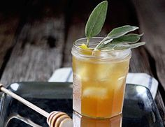 The Hibernating Honey Bear - bourbon with honey sage syrup