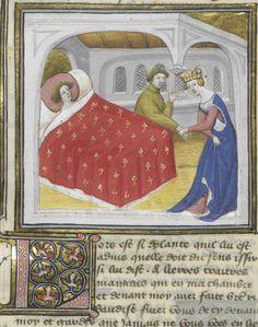 C'est le livre de messire Lancelot du Lac, ouquel livre sont contenus tous les fais et les chevaleries dudit messire Lancelot, et la Queste du saint Graal faite par ledit messire Lancelot, le roy Artus, Galaad, le bon chevalier Tristan, Perceval, Palamedes et les autres compaignons de la Table ronde. » — 2e volume Author : Gautier Map. Auteur du texte Url of the page : http://gallica.bnf.fr/ark:/12148/btv1b55001676w/f429.item