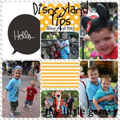 Disneyland tips and hints