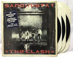 The Clash Sandinista 3LP + Hype Sticker US Pressing + Poster LP #Vinyl #Records