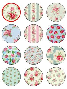 12 x round rice paper cake toppers Resin Crafts, Fun Crafts, Paper Crafts, Cap Cake, Bottle Cap Images, Bottle Caps, Decoupage Printables, Floral Banners, Paper Cupcake