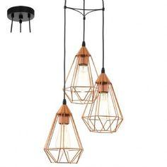 Suspension Tarbes Cuivre 3 Lampes EGLO 94196