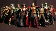 Steampunk Justice League of America figures