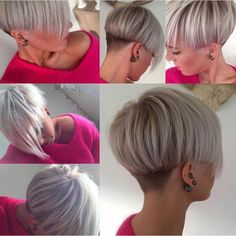 Modern bowl cut with long fringe.