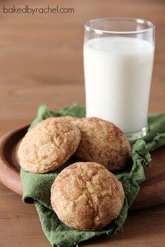 Pumpkin Snickerdoodle Cookie Recipe from bakedbyrachel.com