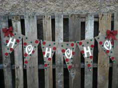 HoHoHo Christmas Banner. Banners for all Occasions!!