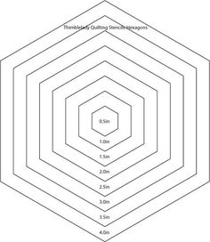Printable Hexagon Template for Quilting [PDF download