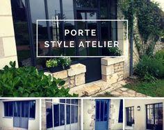 Porte De Garage Pliante En Fer Style Atelier Fabrication Dans - Porte style atelier