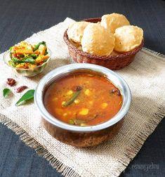 poori bhaji,batata bhaji