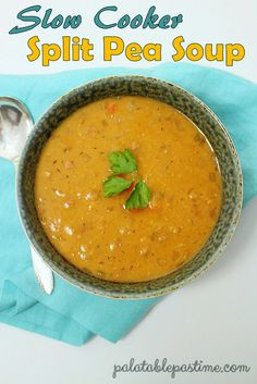 An Easy to Make Crock Pot Split Pea Soup | Recipe