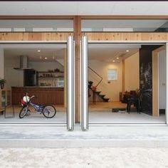 土間リビングの家の建築事例写真