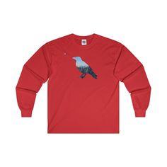 Mountain Raven Ultra Cotton Long Sleeve T-Shirt