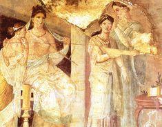 View top-quality stock photos of Women Dressing Fresco From Herculaneum Roman Civilization Century Bc. Rome Antique, Art Antique, Roman History, Art History, Ancient Rome, Ancient History, Fresco, Pompeii And Herculaneum, Roman Art
