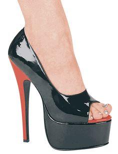 Crossdreser Society - Crossdressing Shoes Sexy Half Inch Super Stiletto High Heel Open Toe Platform Shoes Up To Size 16