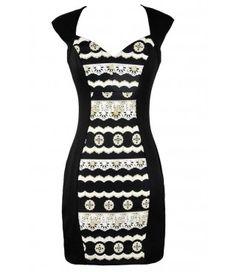 Lindo vestido de Negro y Oro, Negro y Oro Vestido lápiz, Negro y modelo del oro Vestido