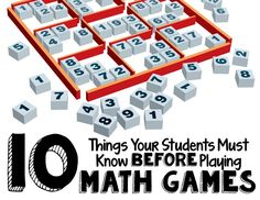 10 Things Your Students MUST Know Before Playing Math Games