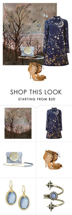 blue night by yaninna-diaz on Polyvore featuring moda, Valentino, Dareen Hakim, Armenta and Ettika