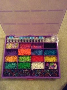 Rainbow loom storage idea