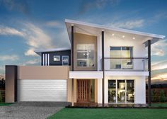 The Bahama Series represents truly innovative, open plan living in two storey home designs from one of Australia's leading home builders. Storey Homes, House Elevation, Display Homes, Facade House, Open Plan Living, House Goals, Coral, Home Builders, Ideal Home