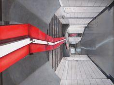 Waterloo Station, London - Acrylic on canvas x SOLD Waterloo Station, London, Canvas, Gallery, Tela, Roof Rack, Canvases, London England