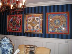 How to frame silk scarves