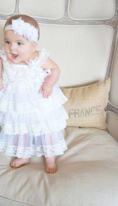Lace baptism Dress White Baptism Dress by PoshPeanutKids on Etsy