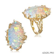 Two views of a beautiful Opal Ring