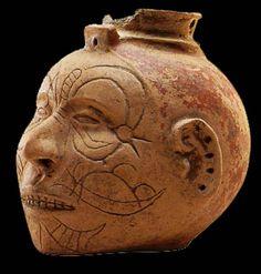 mississippian culture | ceramic head effigy jar from missouri late mississippian period ad ...