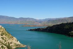 The artificial lake of El Ouidane in the Azilal district, Middle Atlas, a fine place for carp fishing.