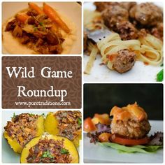 Wild Game Roundup:If you like venison, wild boar, fish, or bison, you will love this round up! www.puretraditions.com