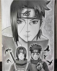 Itachi and Shisui Uchiwa, two naturally kind and strong people. Itachi Uchiha, Naruto Shippuden Sasuke, Naruto Und Sasuke, Shikamaru, Anime Naruto, Naruto Fan Art, Manga Anime, Naruto Drawings, Naruto Sketch
