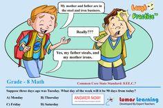 Laugh & Practice:Grade 8 Math Sample Question. For more such FREE Sample questions and Practice questions, Visit:http://goo.gl/MT90xQ