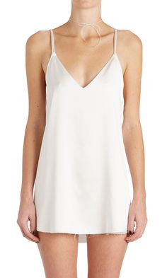 Sexy but unexpected, the Zillah slip dress skims the body instead of hugging it. Inspired by everything good about vintage slips and none of the weird and rendered in weighty luxurious silk charmeuse.