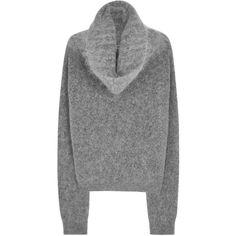 Acne Studios Raze Mohair Blend Jumper - Size S (98.660 HUF) ❤ liked on Polyvore featuring tops, sweaters, drapey sweater, grey top, roll neck sweater, jumper top and draped tops
