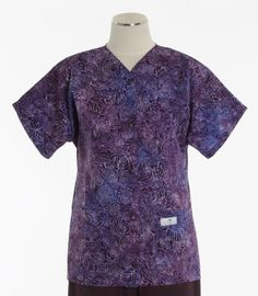 Scrub Med Womens Baseball Top in Heliotrope