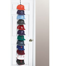 The Perfect Curve Cap Rack Offers A Functional Design That Can Hold Up To  36 Baseball Caps For Storage Or Display Over A Door Or On The Wall.
