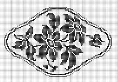 Oval 51 | Free chart for cross-stitch, filet crochet | Chart for pattern - Gráfico