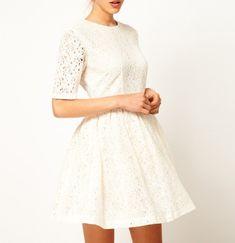 Elegant Women Lady Dress Floral Lace One-piece Party Prom Slim Skater Dress White - Kholyne Marc brand Gift Ideas