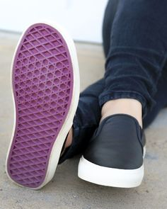 Introducing the @VansSurf Slip-On SF. W/ purple soles & fuzzy, cozy washable footbeds!