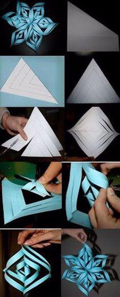 DIY Paper Snowflakes diy craft crafts diy crafts paper crafts winter crafts crafts for kids Christmas Art, Christmas Projects, Christmas Decorations, Christmas Ornaments, Diy And Crafts, Crafts For Kids, Arts And Crafts, Paper Crafts, 3d Paper