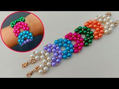 Making of beaded bracelet cuff bracelet useful & easy hi there so today i am gonna show you how to make this beautiful and easy beaded bracelet at home this . Beaded Bracelets Tutorial, Diy Bracelets Easy, Cuff Bracelets, Making Bracelets With Beads, Bracelet Making, Beads Making, Beaded Jewelry Patterns, Bracelet Patterns, Diy Schmuck
