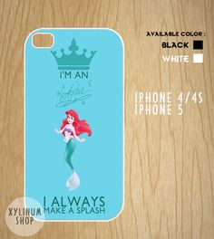 Ariel Little Mermaid Quotes Case Available for Iphone by XYLINUM, $15.00