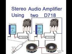 Stereo Audio Amplifier Using Two Transisters Elektroniken Amplifier Audio Stereo Transisters Electronics Mini Projects, Electronics Basics, Audio Box, Hifi Audio, Electrical Engineering Books, Electrical Projects, Electronic Engineering, Electronic Circuit Design, Speaker Amplifier