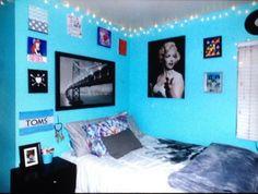 Blue Room Diy Room Roomideas Tumblr Room Ideas Bedrooms Blue Bedrooms